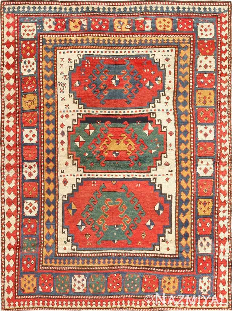 Antique Tribal Caucasian Kazak Rug 47371 Nazmiyal