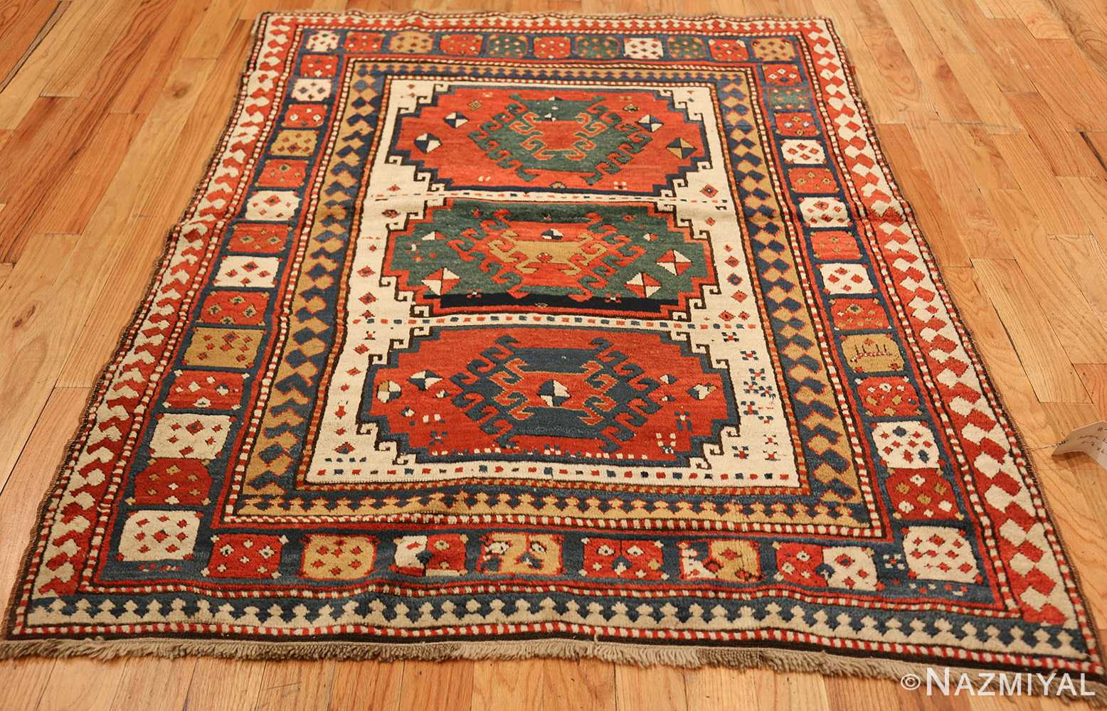 antique tribal caucasian kazak rug 47371 whole Nazmiyal