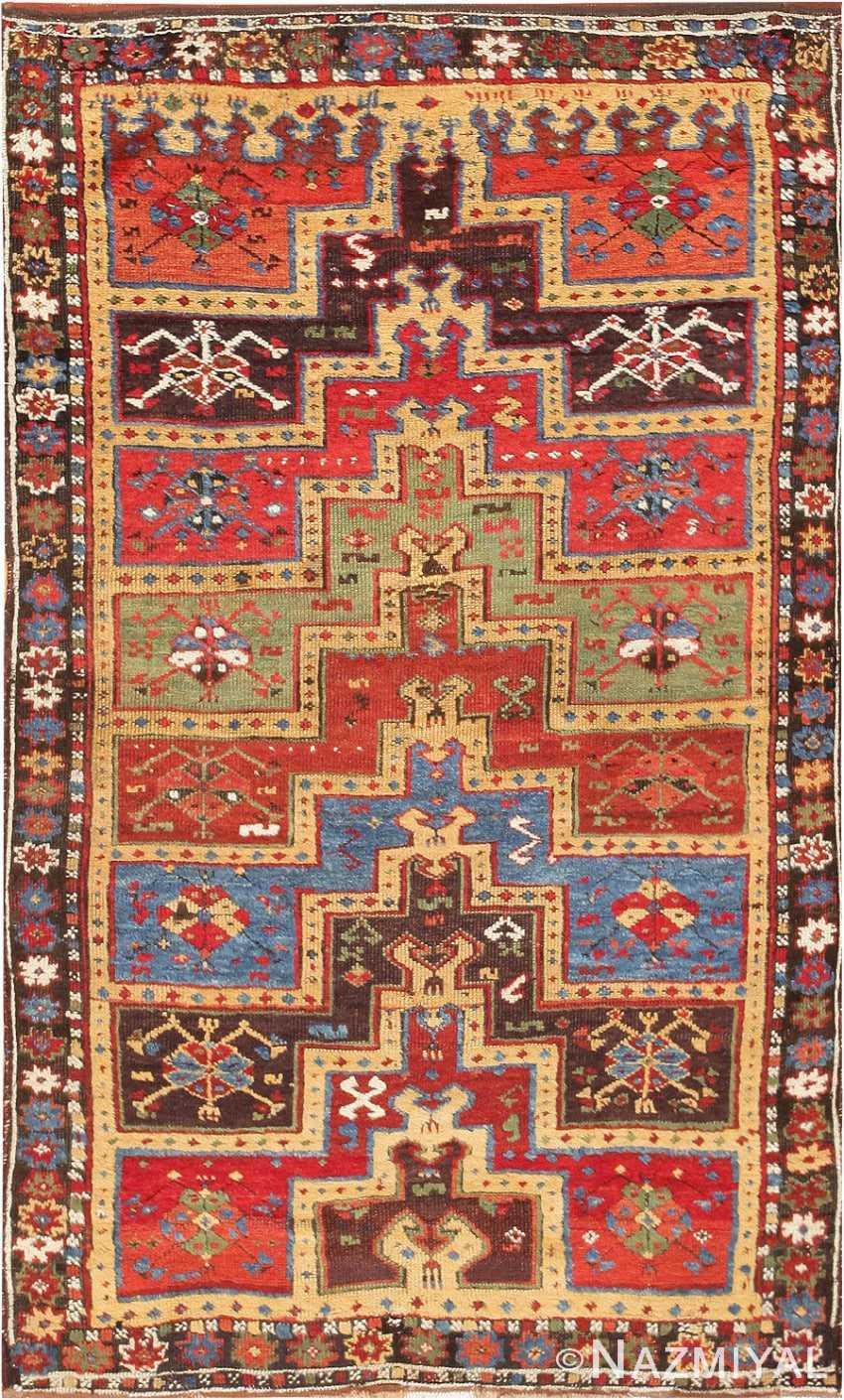 Antique Turkish Tribal Yuruk Prayer Rug 47380 Detail Large View
