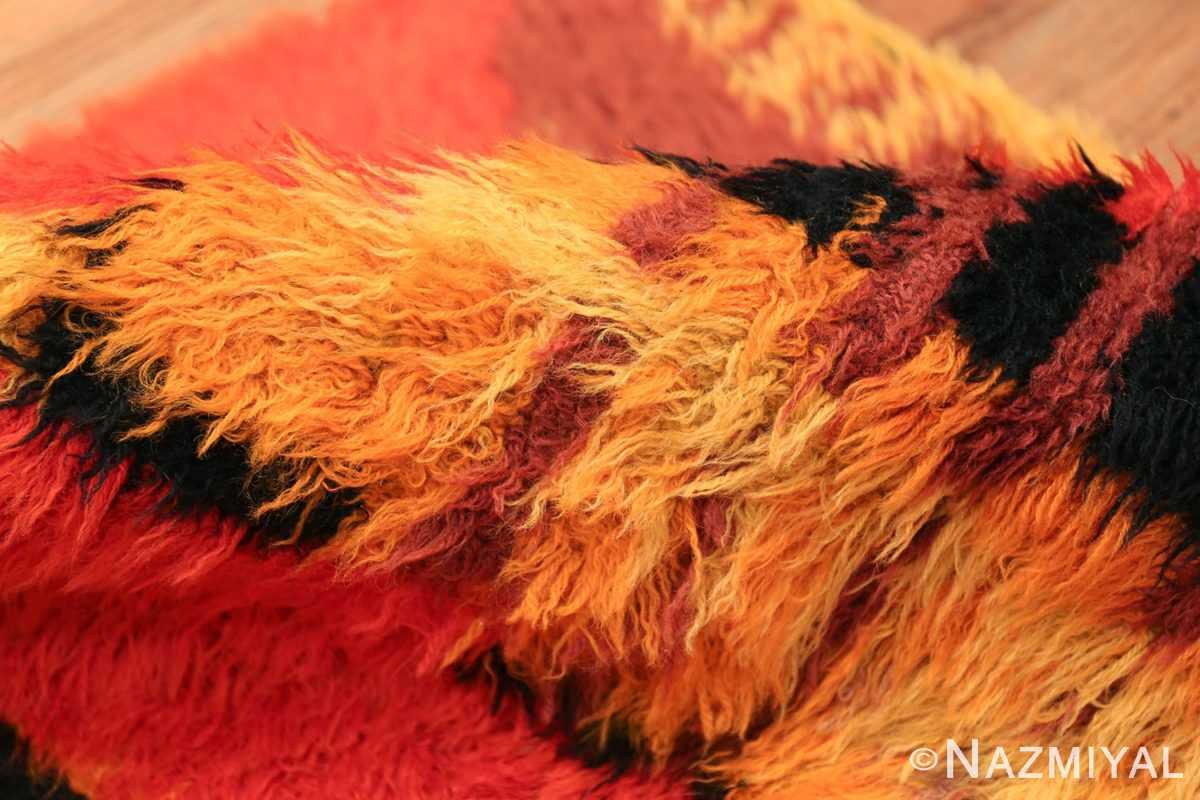 Vintage Swedish Rya Rug 47323 Colorful Pile Nazmiyal
