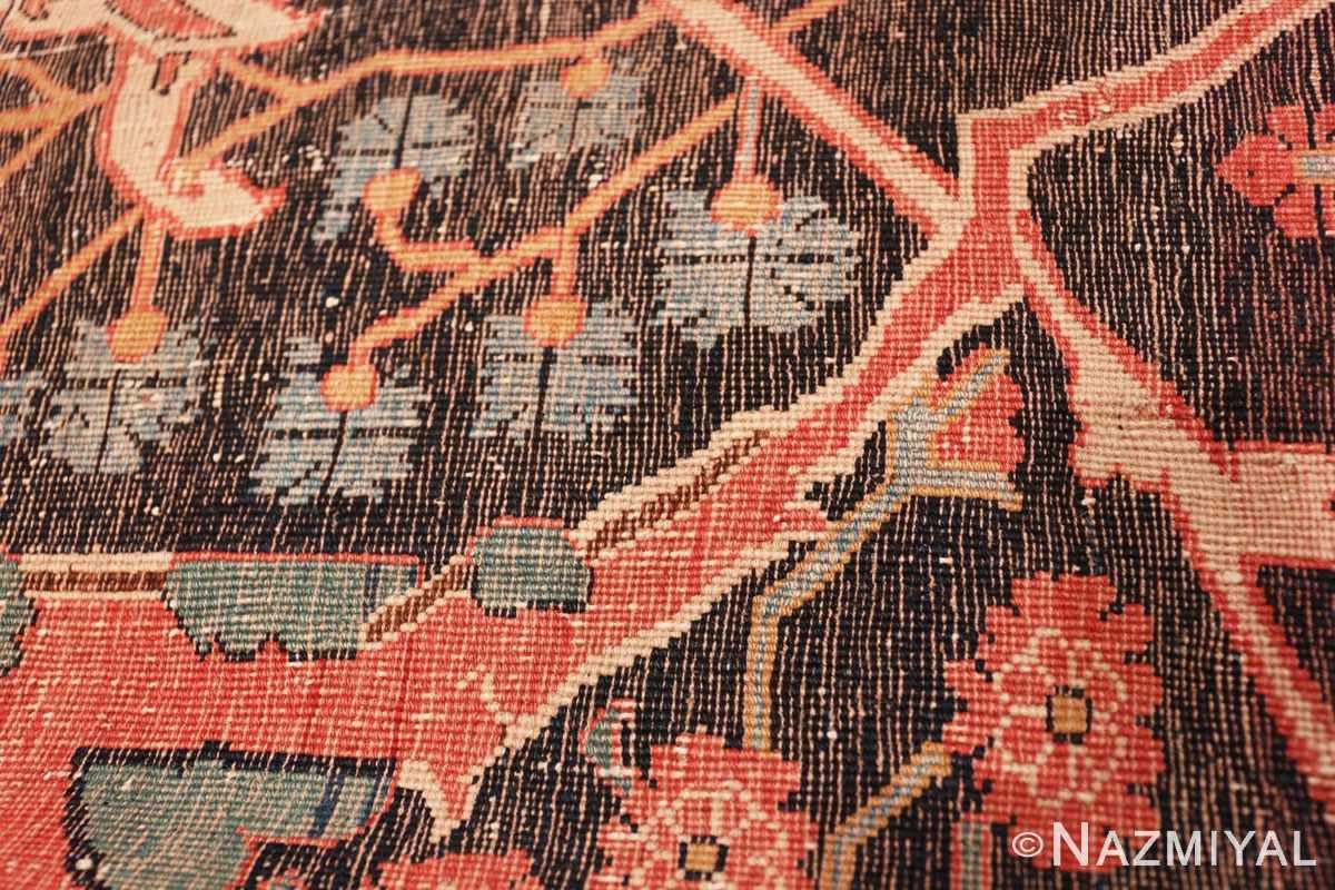 Weave detail Antique Persian Bidjar Sampler rug 47379 by Nazmiyal