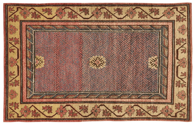 Antique Samarkand Rug by Nazmiyal