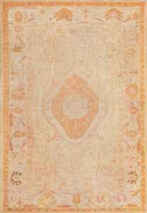 Antique Oushak Rug from Turkey 47441 Large Image