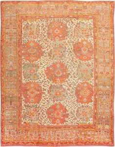 Antique Turkish Oushak Carpet 47401 Detail/Large View
