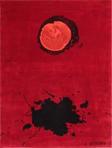 Art Rug Modernist Carpet by Adolph Gottlieb 47408 Large Image
