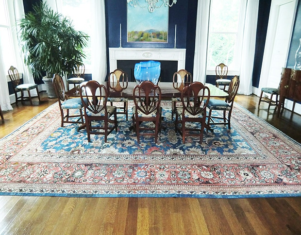 Dining Room of the Official Residence of the Vice President With Antique Persian Rug From Nazmiyal