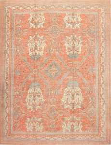 Large Antique Turkish Oushak Rug 47426 Detail/Large View