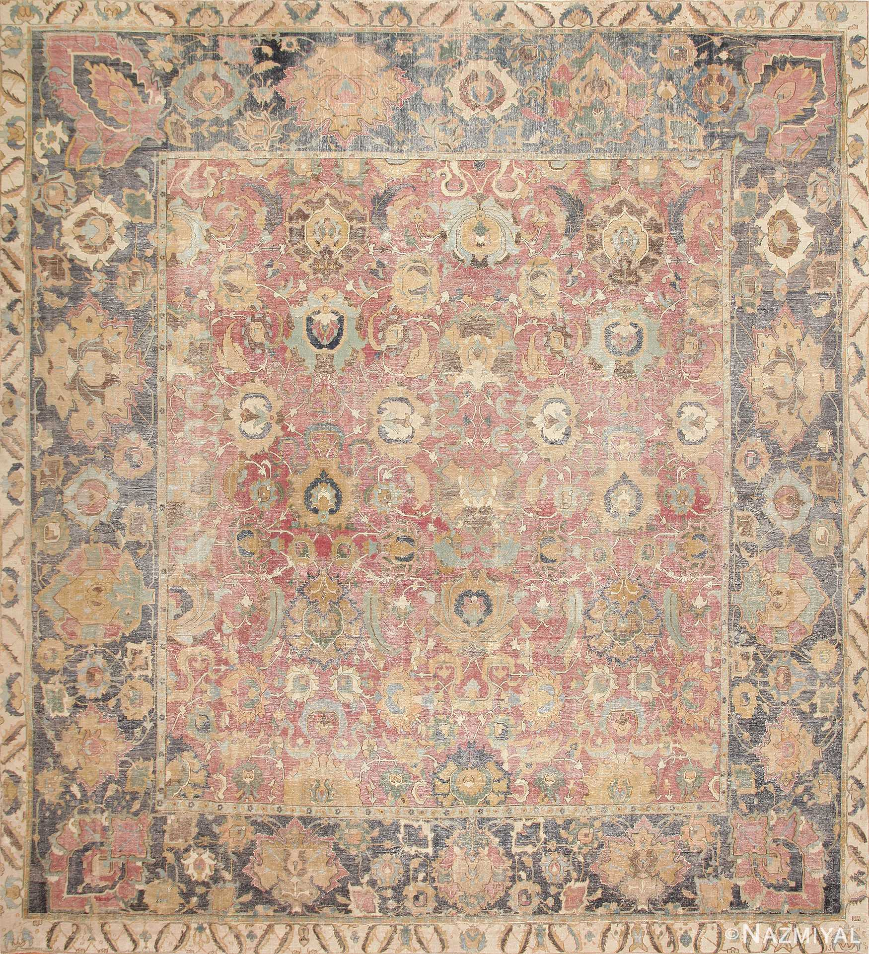 17th Century Persian Isfahan Carpet 44889 Detail/Large View