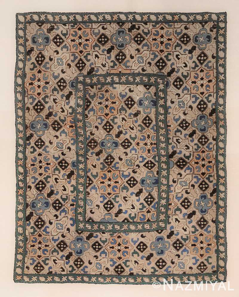 Vintage Mexican Zapotec Rug In Small Size With Stylized: Small Antique Azerbaijan Embroidery Textile 47374 By Nazmiyal