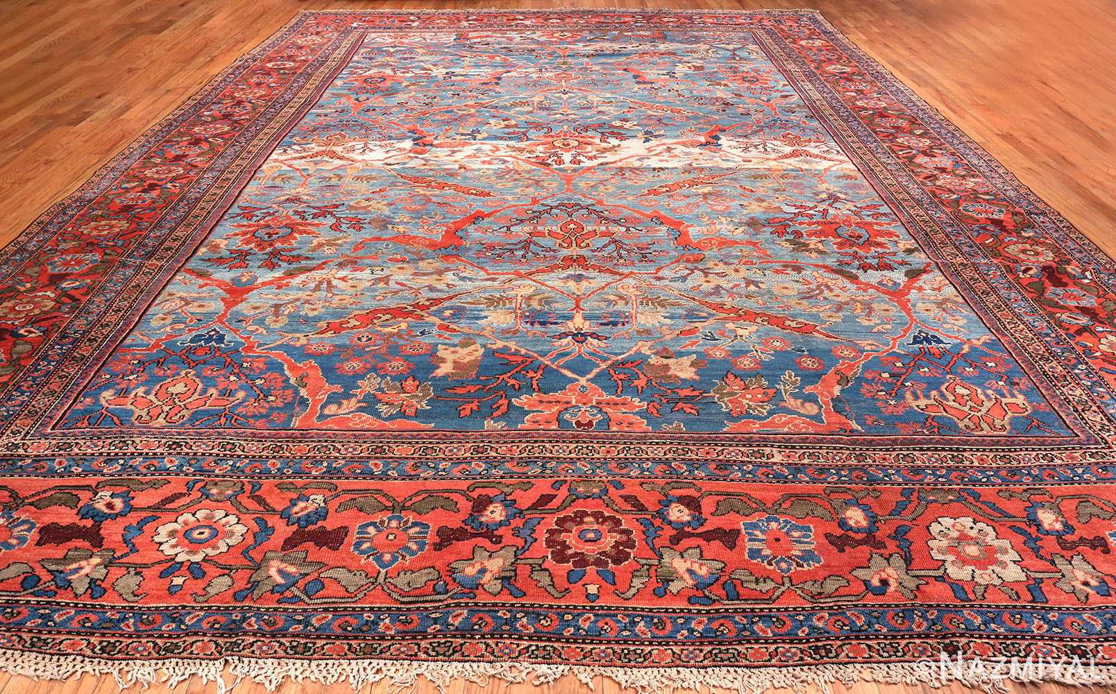Antique Light Blue Persian Sultanabad Carpet 47270 By Nazmiyal Ny