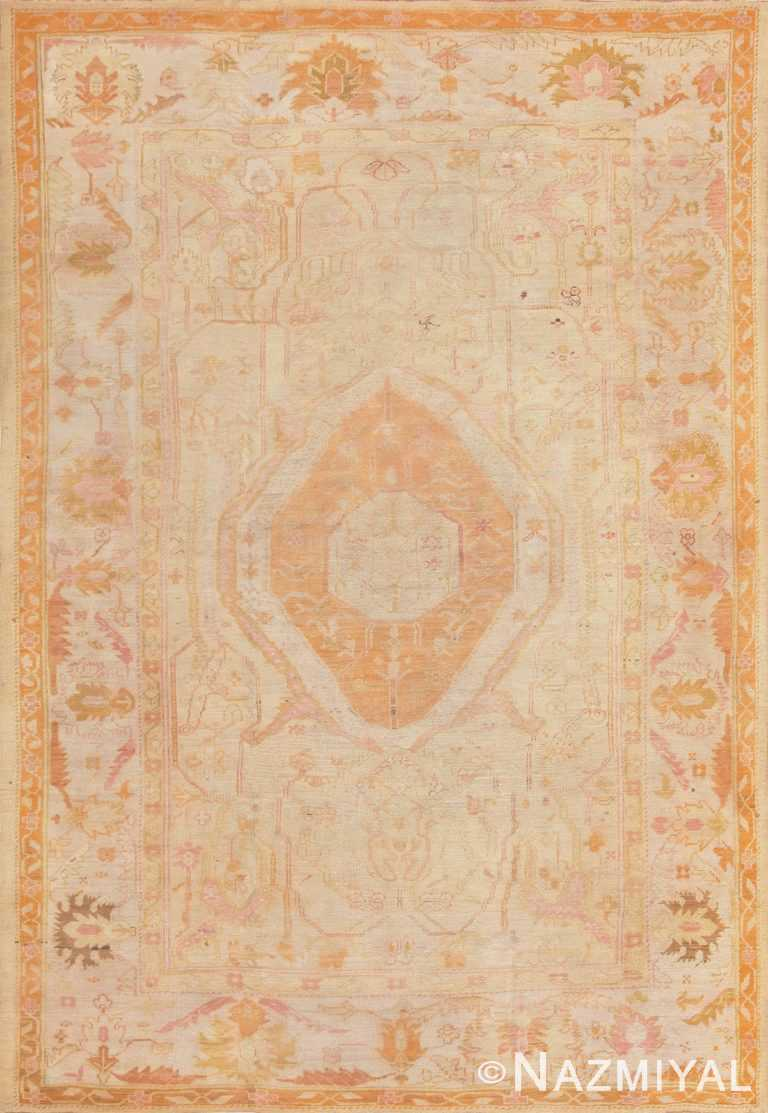 Antique Turkish Oushak Rug 47441 Nazmiyal Antique Rugs