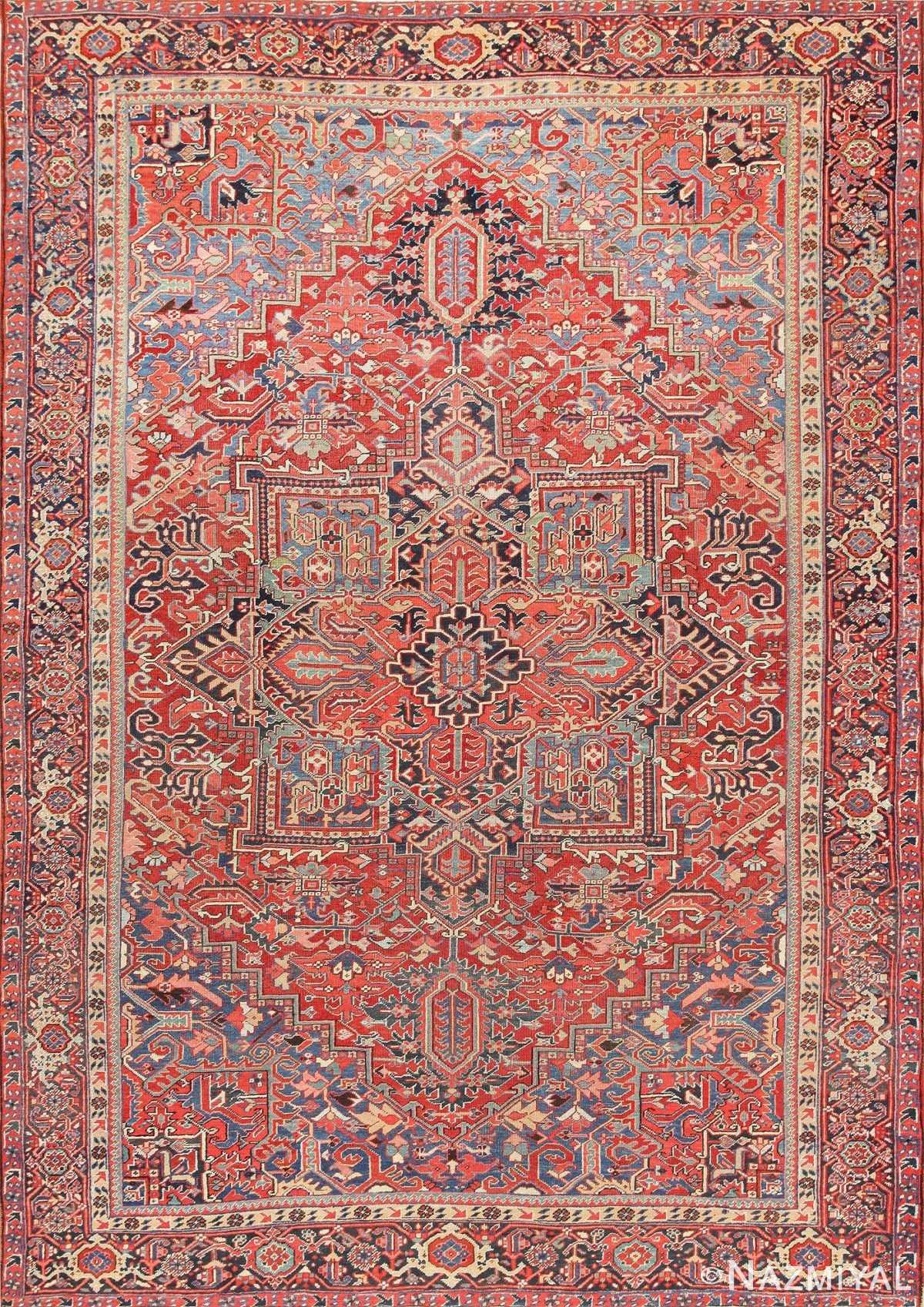 Antique Persian Heriz Carpet 47297 Detail/Large View