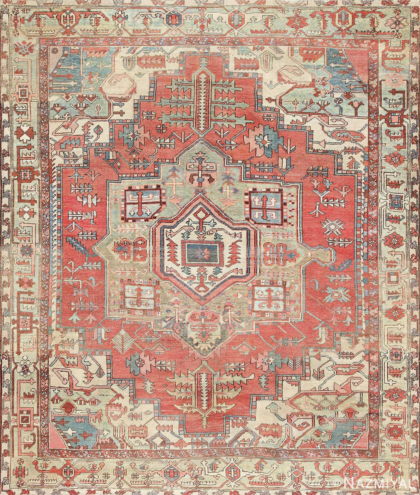 Vintage Persian Rugs: Antique Persian Heriz Serapi Rug 47444 By Nazmiyal