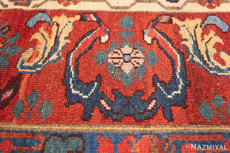 antique persian kurdish bidjar rug 47409 pink Nazmiyal