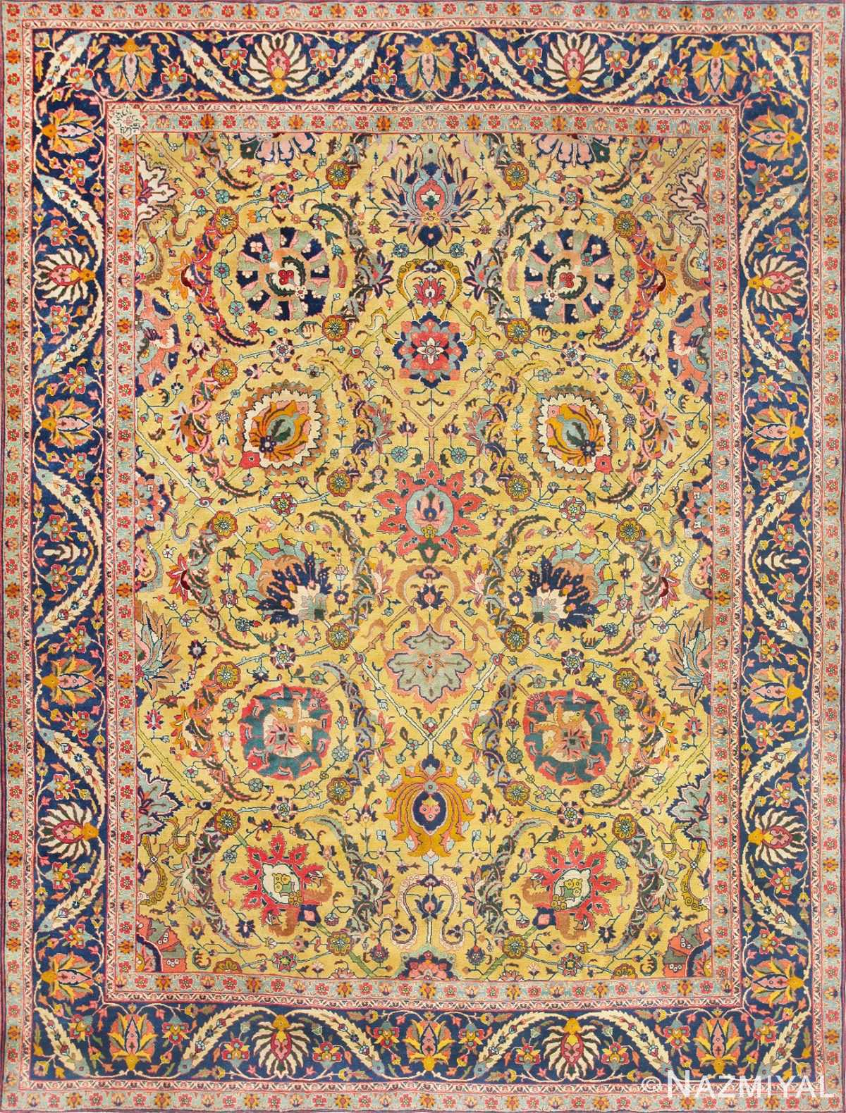 Antique Persian Sickle Leaf Carpet 47362 Large Image