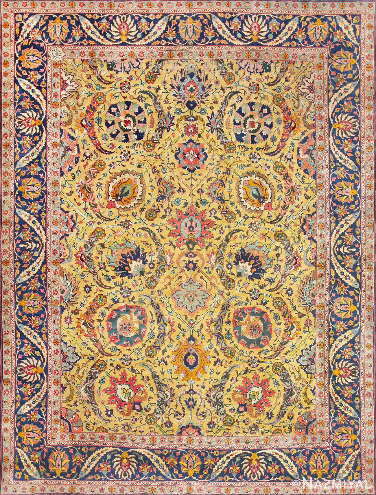 Antique Persian Sickle Leaf Carpet 47362 Large Image