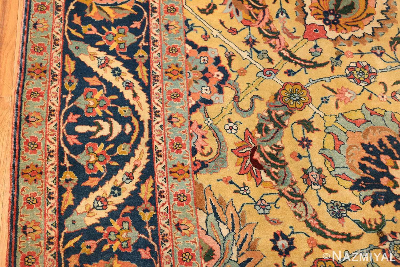 antique persian sickle leaf tabriz rug 47362 border Nazmiyal