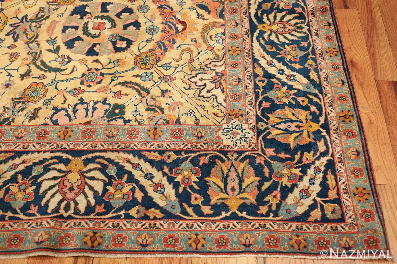 antique persian sickle leaf tabriz rug 47362 corner Nazmiyal