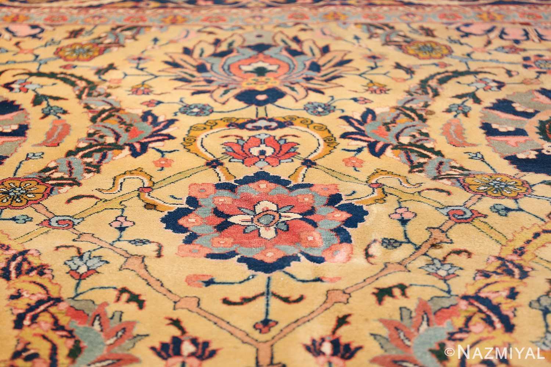 antique persian sickle leaf tabriz rug 47362 golden Nazmiyal