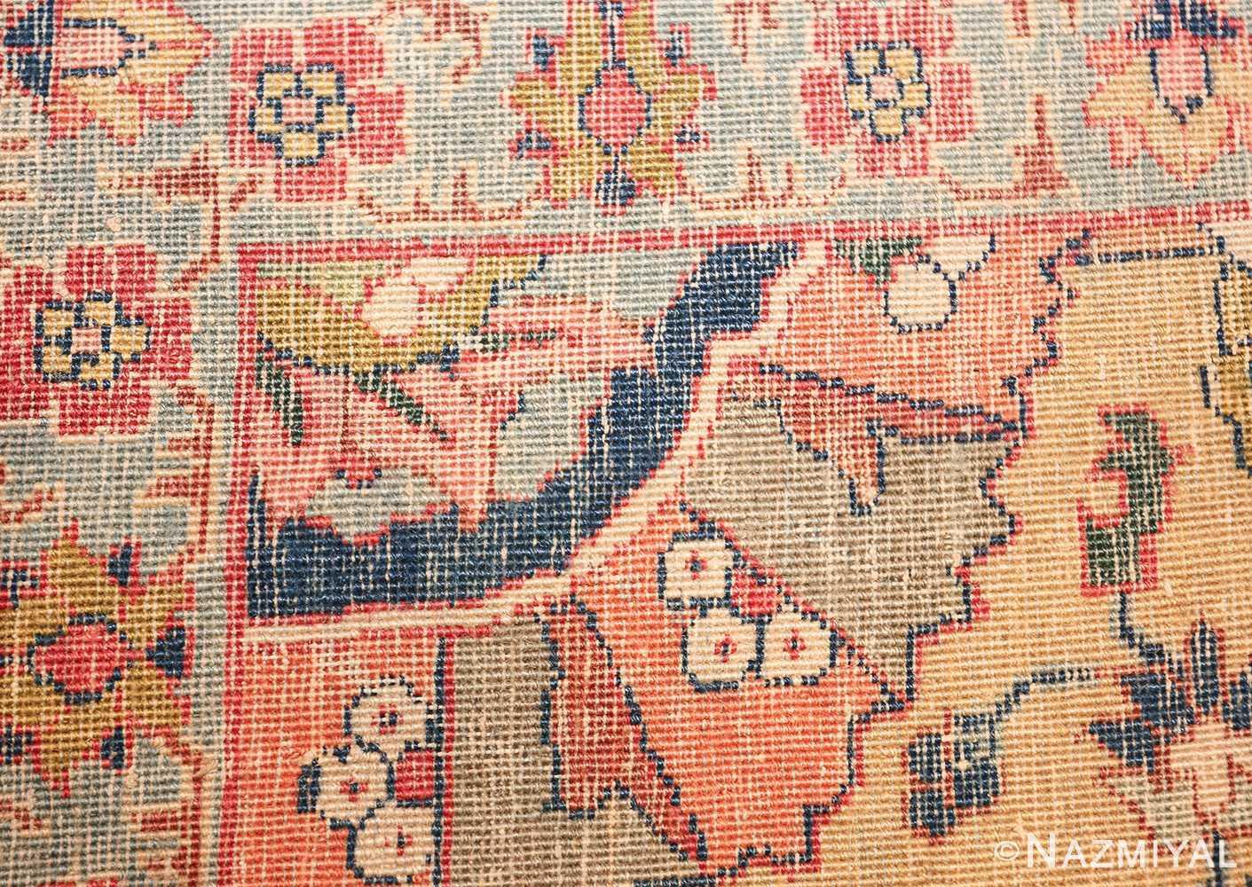 antique persian sickle leaf tabriz rug 47362 knots Nazmiyal
