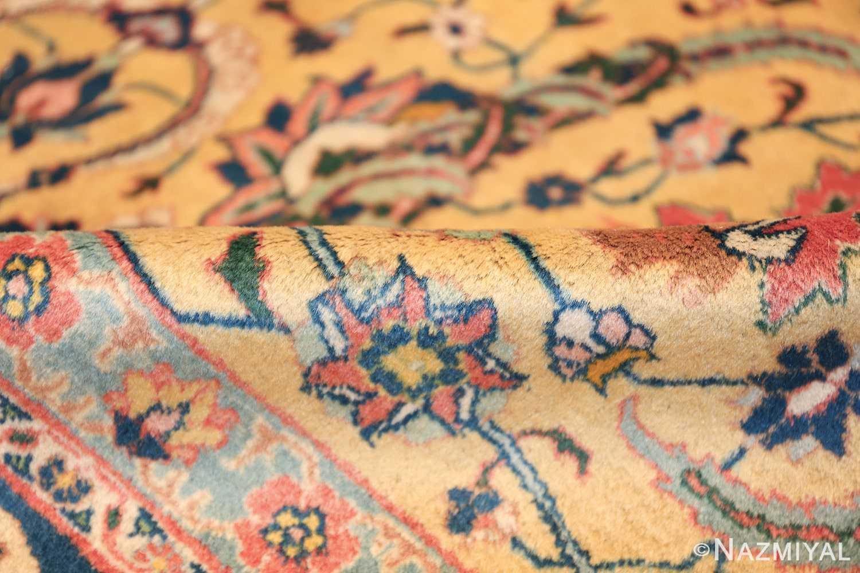 antique persian sickle leaf tabriz rug 47362 pile Nazmiyal