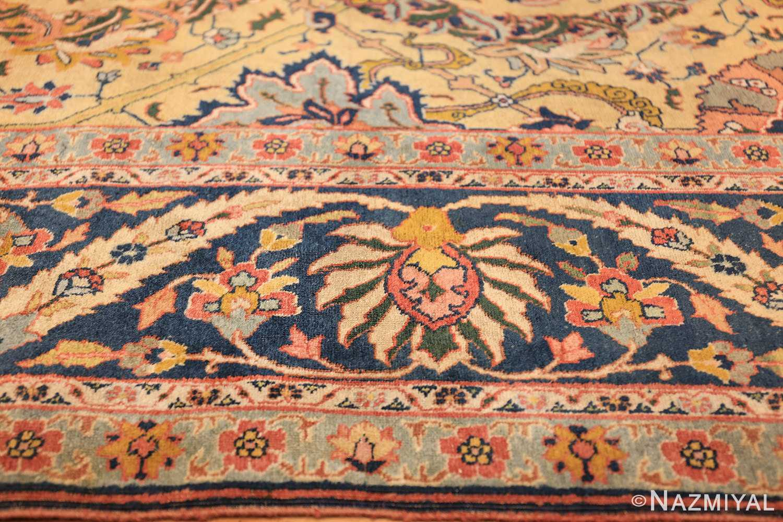 antique persian sickle leaf tabriz rug 47362 pink Nazmiyal