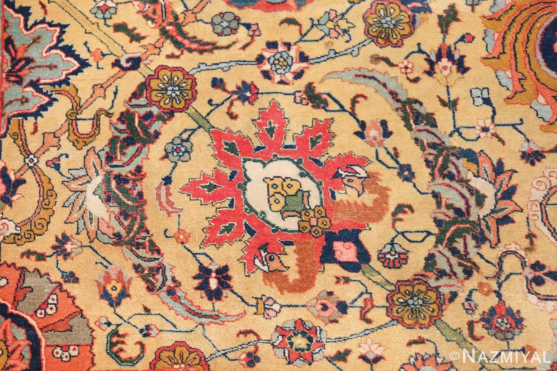 antique persian sickle leaf tabriz rug 47362 red Nazmiyal