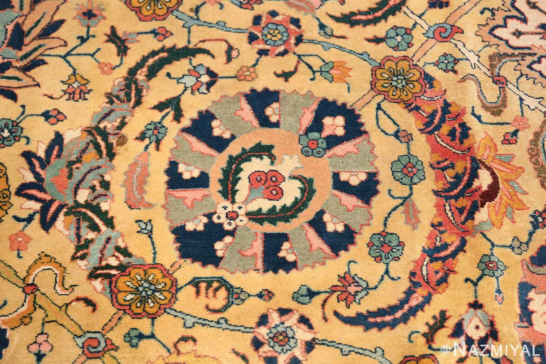 antique persian sickle leaf tabriz rug 47362 round Nazmiyal