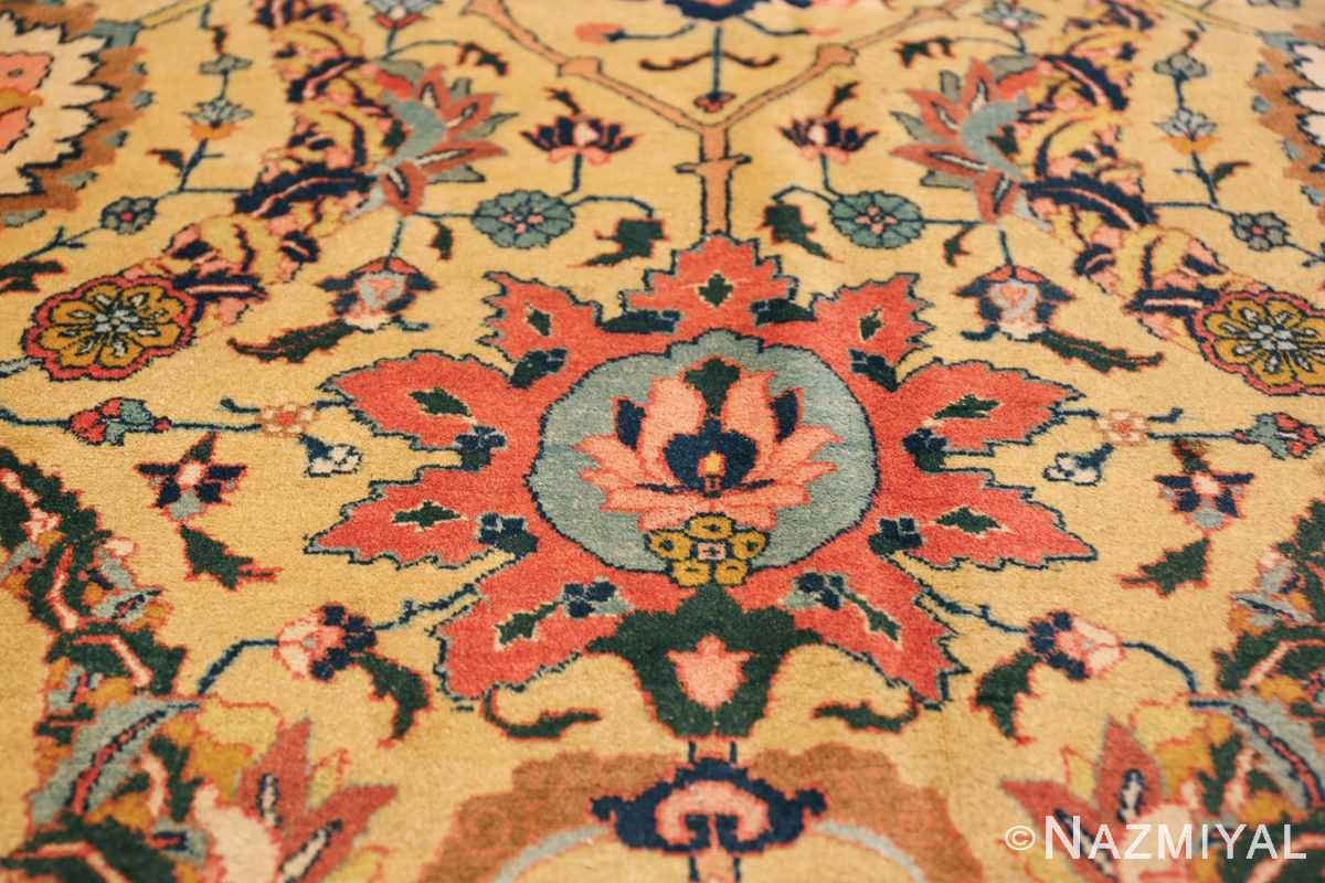 antique persian sickle leaf tabriz rug 47362 tiara Nazmiyal