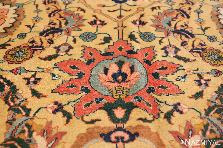 antique persian sickle leaf tabriz rug 47362 tiara Nazmiyal