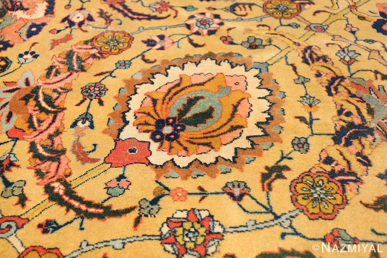 antique persian sickle leaf tabriz rug 47362 white Nazmiyal