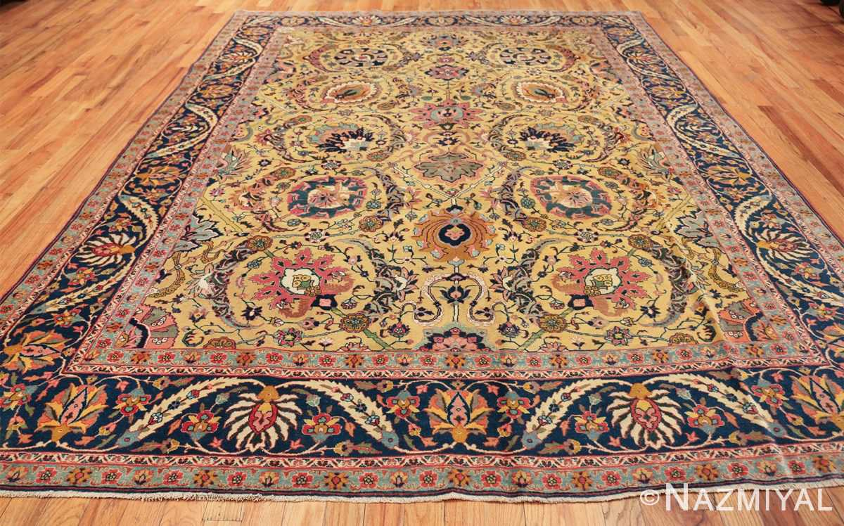 antique persian sickle leaf tabriz rug 47362 whole Nazmiyal