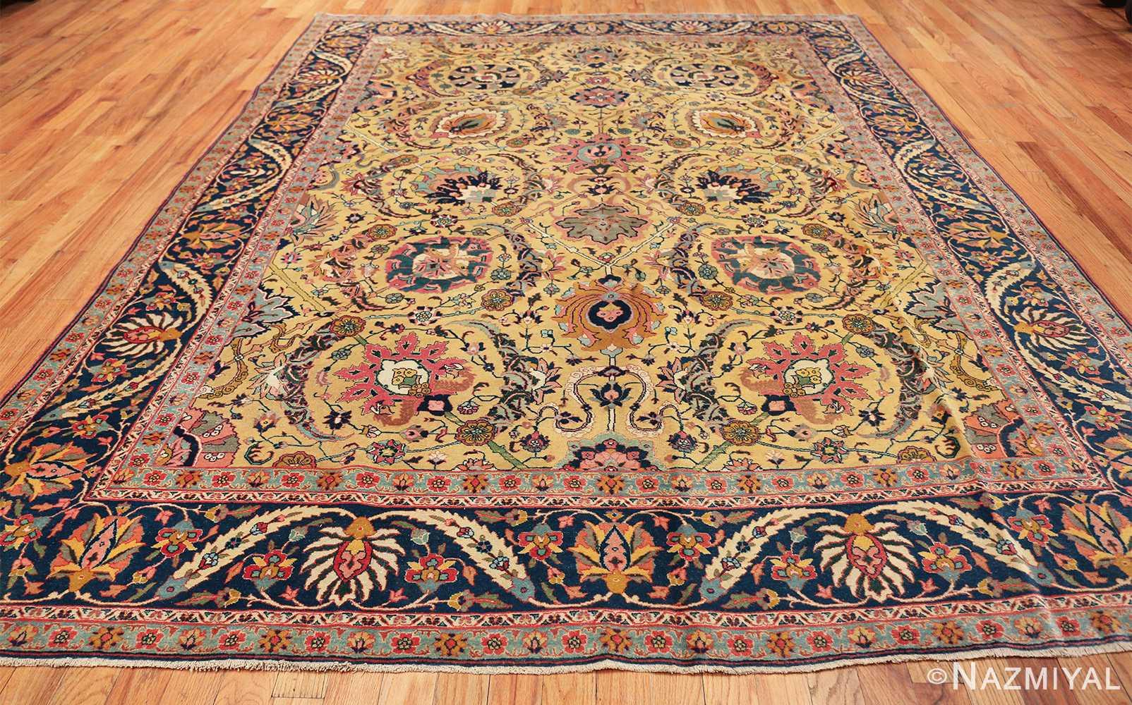 antique persian sickle leaf tabriz rug 47362 whole Nazmiyal