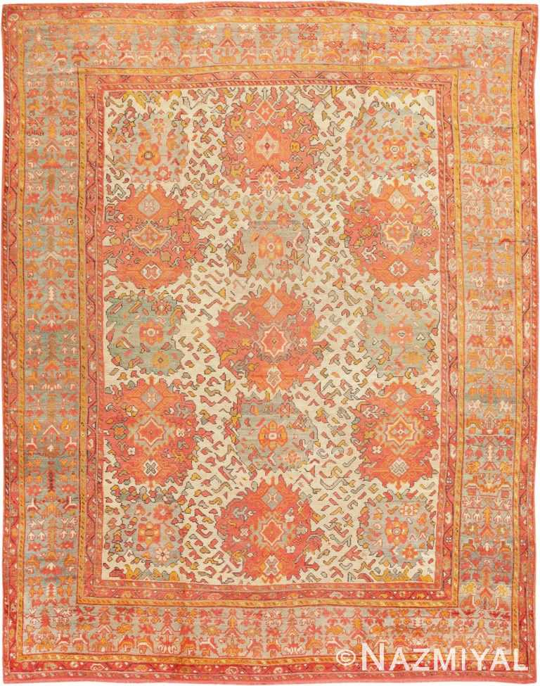 Antique Turkish Oushak Carpet 47401 Detail/Large View