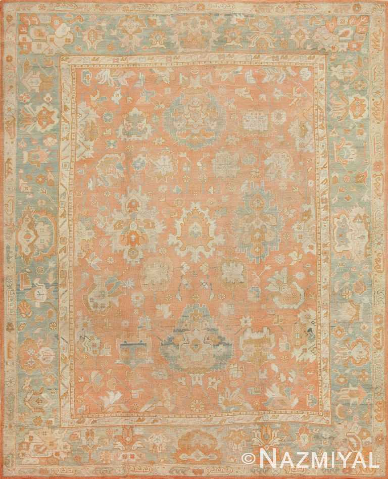 Antique Turkish Oushak Rug 47422 Detail/Large View