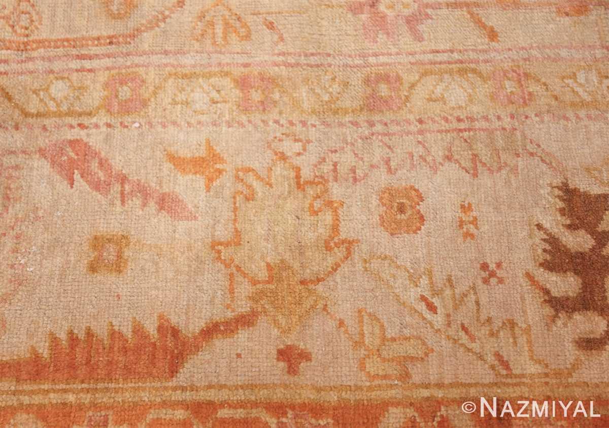 antique turkish oushak rug 47441 border Nazmiyal
