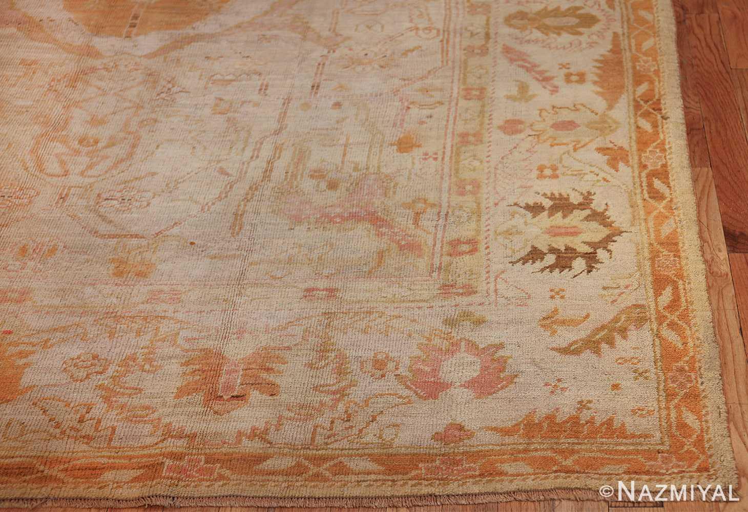 antique turkish oushak rug 47441 corner Namziyal