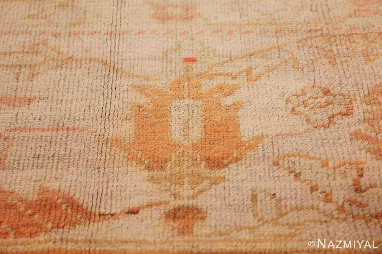 antique turkish oushak rug 47441 flower Nazmiyal