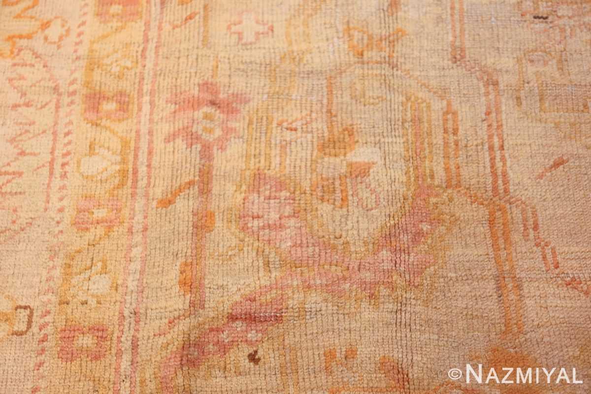 antique turkish oushak rug 47441 rose Namziyal
