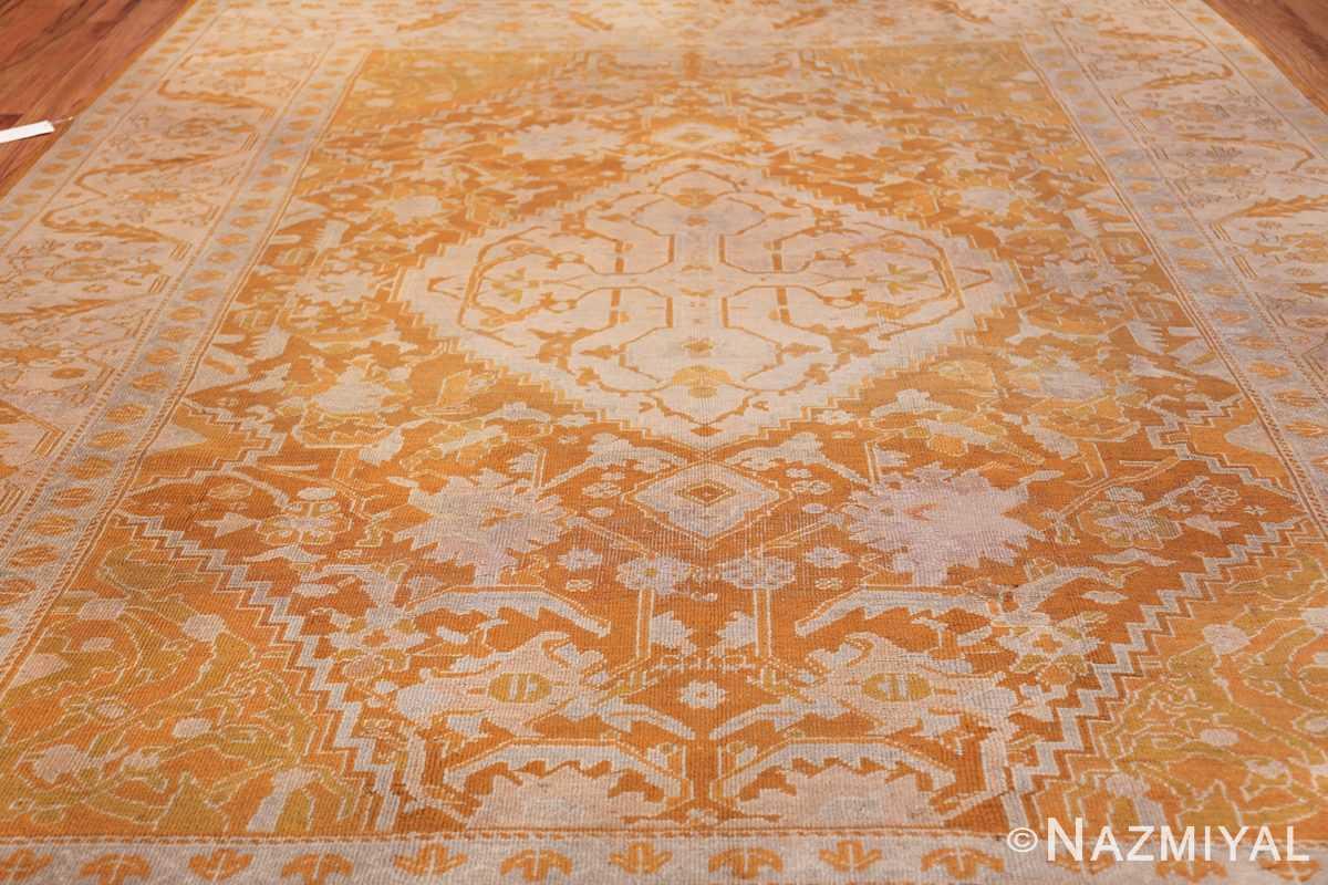 Antique Turkish Oushak Rug 49844 Field Design Nazmiyal