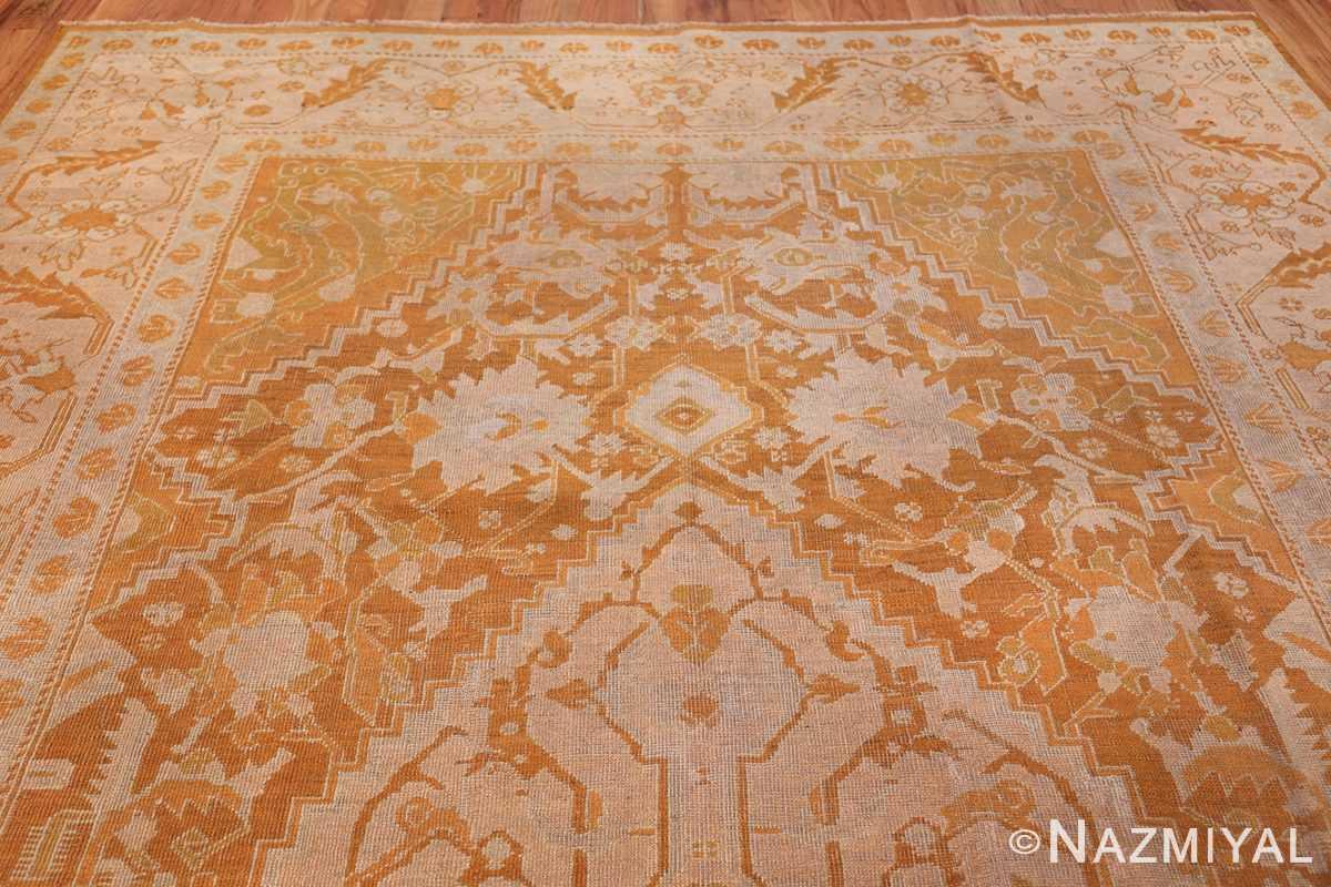 Antique Turkish Oushak Rug 49844 Top Design Nazmiyal