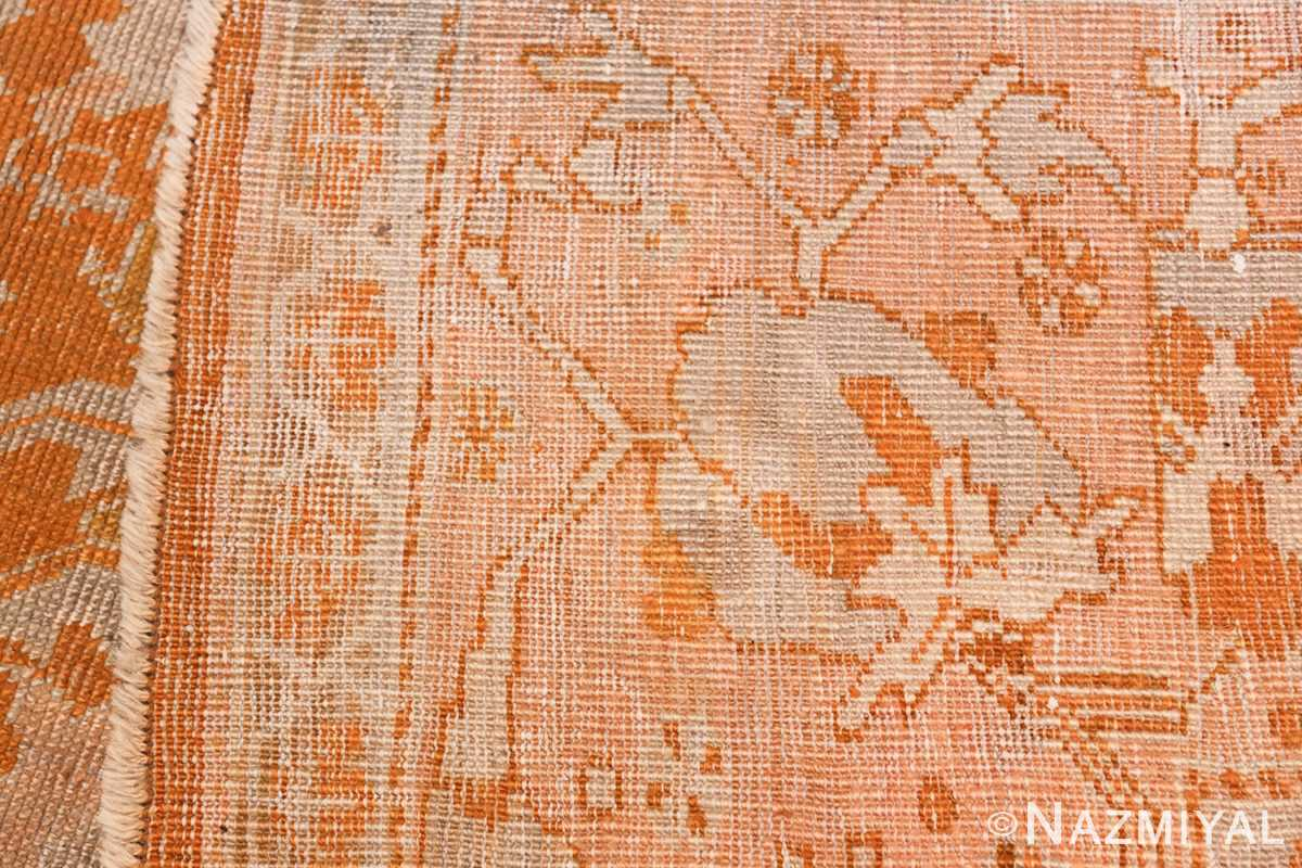 Antique Turkish Oushak Rug 49844 Woven Knots Nazmiyal