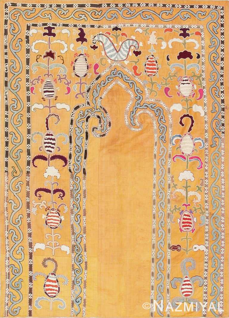 Antique Uzbek Prayer Embroidery Textile 47392 Detail/Large View