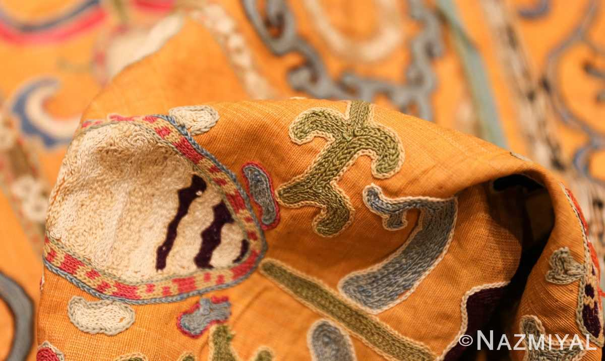 antique uzbek prayer embroidery textile 47392 pile Nazmiyal