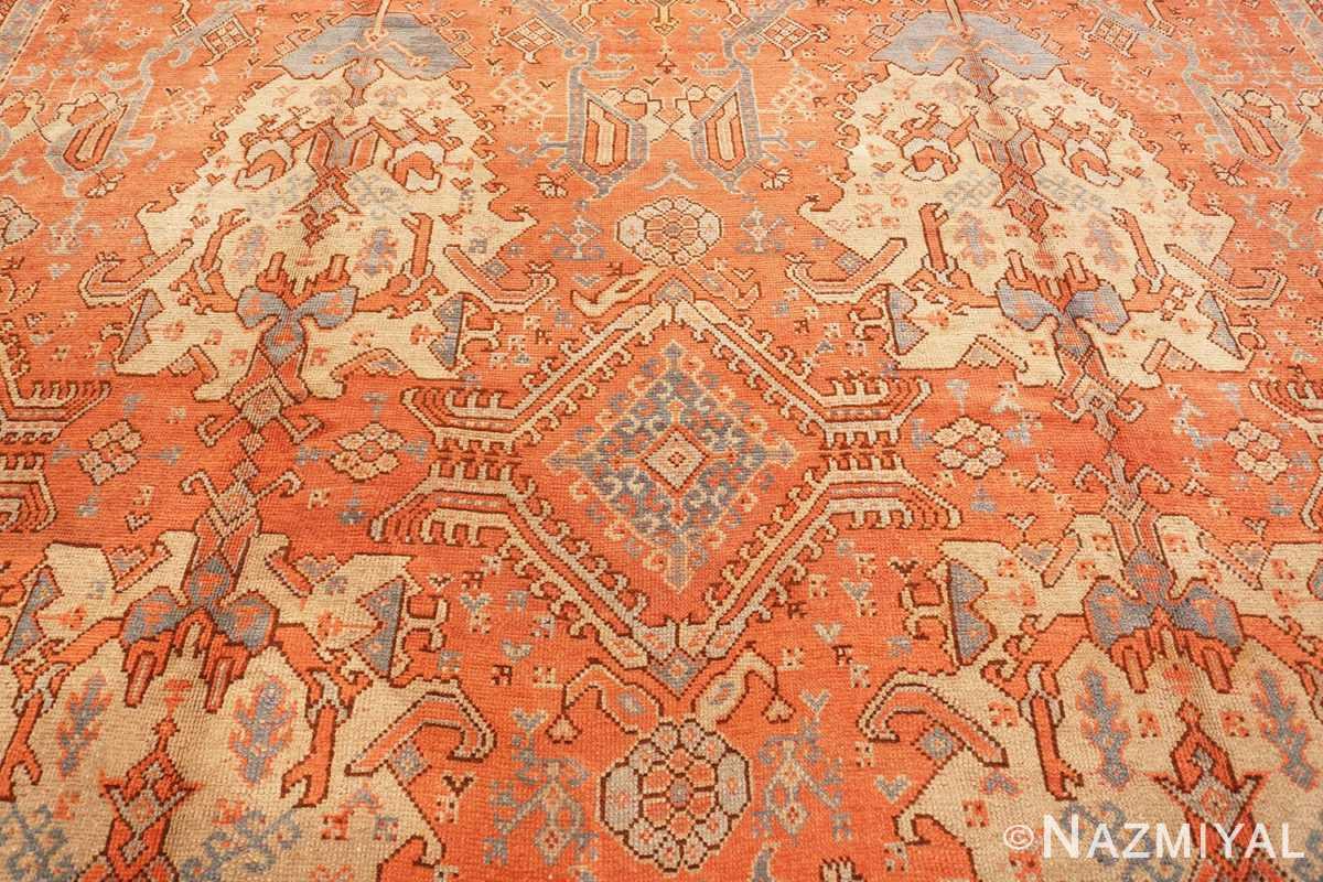 Background Large Antique Turkish Oushak rug 47426 by Nazmiyal