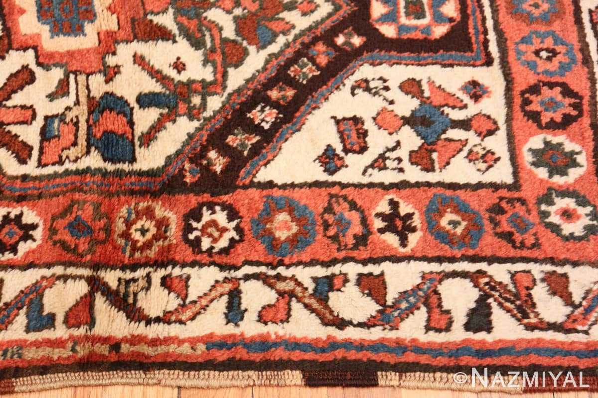 Border Antique Persian Tribal Kurdish rug 47448 by Nazmiyal