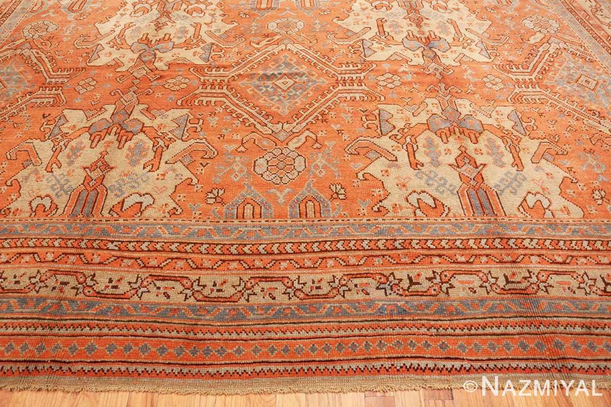 Border Large Antique Turkish Oushak rug 47426 by Nazmiyal