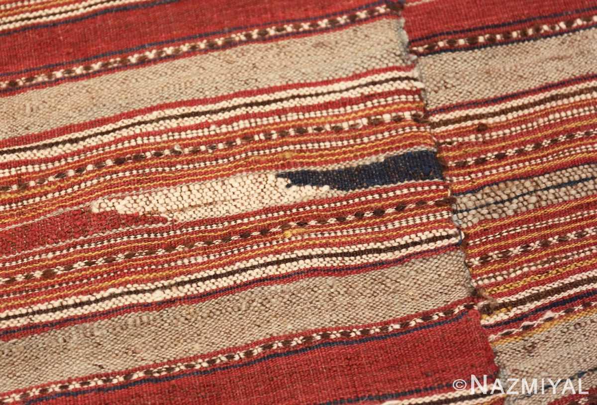 Close-up Antique Persian Mazandaran Kilim 47354 by Nazmiyal