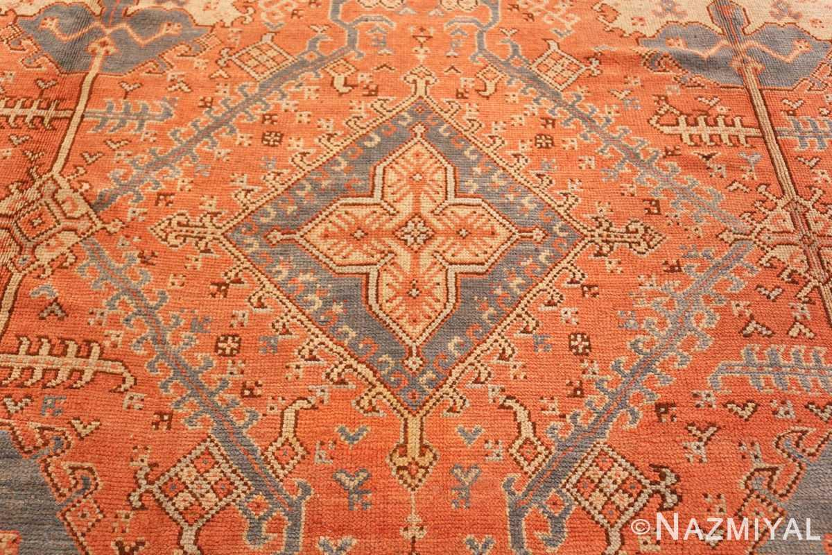Close up Large Antique Turkish Oushak rug 47426 by Nazmiyal