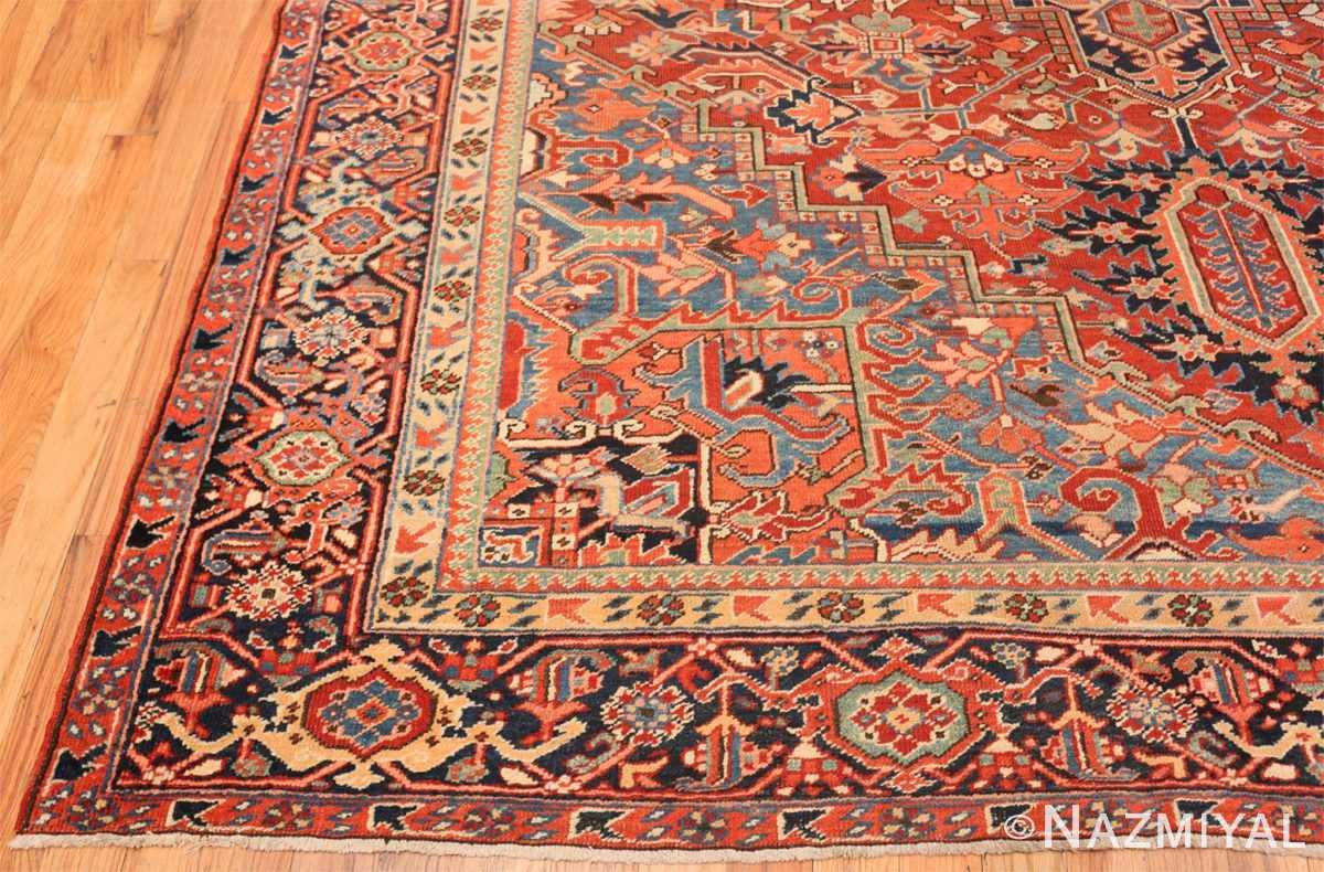 Corner Antique Persian Heriz rug 47297 by Nazmiyal